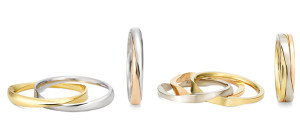 Connect 2 rings, for mens:JPY128,000 (Pt/K18YG) For ladies JPY110,000(Pt/K18PG) Connect 2 rings, for mens:JPY138,000 (K18WG/K18YG/K18PG) , For ladies JPY 110,000 (K18WG/K18YG/K18PG)